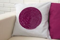 Вышивка в технике Couching на подушке