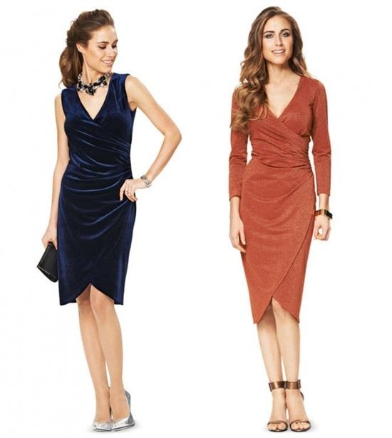 f431018523e Выкройка - платье с запахом и драпировкой